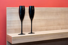 Two glasses Stock Image