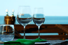 Two of glasses Royalty Free Stock Image