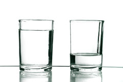 Two glasses Royalty Free Stock Image