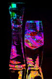 Two Glasses Abstract Stock Photography