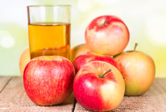Two glasses of apple juice Royalty Free Stock Image