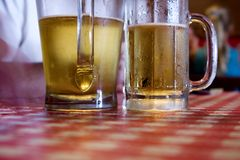 Two Glasses of Beer Royalty Free Stock Photography