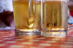Two Glasses of Beer Stock Photography