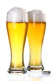 Two glasses of beer Stock Images