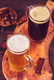 Two glasses of beer above Stock Photography