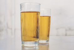 Two Glasses Of Beer. Stock Photos