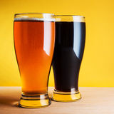 Two glasses of beer Royalty Free Stock Image