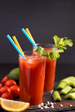 Two glasses of Bloody Mary Stock Photos