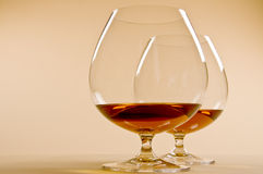 Two Glasses of Brandy Stock Photography