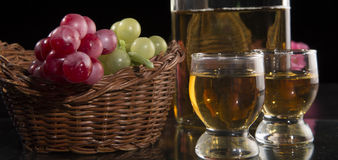 Two glasses Royalty Free Stock Images