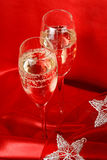 Two glasses of champagne Stock Photos