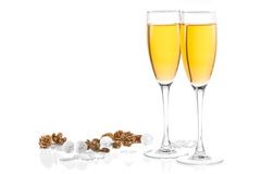 Two glasses of champagne Royalty Free Stock Photography