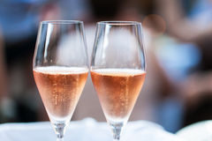 Two glasses of champagne. Stock Photography