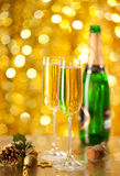 Two glasses of champagne Stock Photography