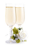 Two glasses champagne Stock Images
