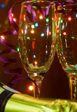 Two glasses for champagne. Stock Images