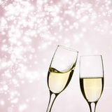 Two glasses of champagne on brillante background Stock Photo