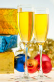 Two glasses with champagne Stock Photo