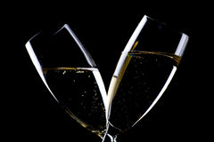 Two glasses champagne closeup Stock Image