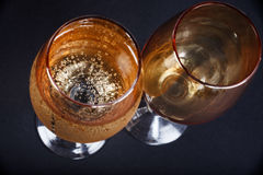 Two glasses of champagne closeup Stock Photography