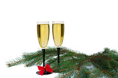 Two glasses with champagne Royalty Free Stock Image