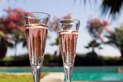 Two glasses of champagne Royalty Free Stock Images