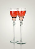 A two glasses of champagne Royalty Free Stock Images