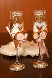 Two glasses of a champagne Royalty Free Stock Photos