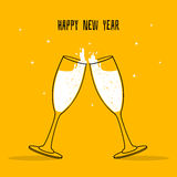 Two Glasses of champagne. Vector illustration of Two Glasses of champagne Stock Photography