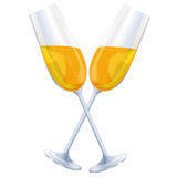 Two glasses of champagnes Royalty Free Stock Images