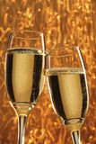 Two glasses of champange Stock Photos
