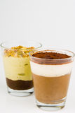 Two glasses Of Chocolate Mousse Royalty Free Stock Photography