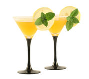 Two glasses with cocktails. royalty free stock images