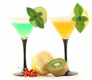 Two glasses with cocktails. Stock Photo