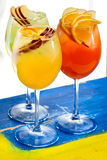 Two glasses with cocktails Stock Image