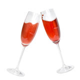 Two glasses with coctails isolated stock photos