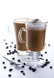 Two glasses of coffee Royalty Free Stock Photography