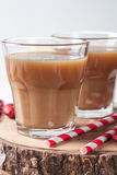 Two glasses of coffee and straws Royalty Free Stock Photos