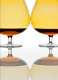 Two glasses of cognac Royalty Free Stock Photos
