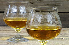 Two glasses of cognac Royalty Free Stock Photo