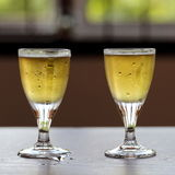 Two Glasses of Cold Beers Royalty Free Stock Photo