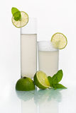 Two glasses with cold lemonade Stock Images