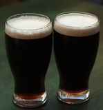 Two glasses of dark beer Royalty Free Stock Photography