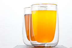 Two glasses with drinks Stock Photos