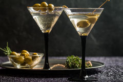 Two glasses of Dry Martini Stock Photography