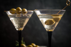 Two glasses of Dry Martini royalty free stock image