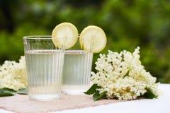 Two glasses of elderflower lemonade Stock Image