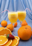 Two glasses of fresh orange juice Royalty Free Stock Image