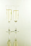 Two glasses full of champagne Stock Photo