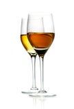 Two glasses of hard liquor aperitif Stock Photo
